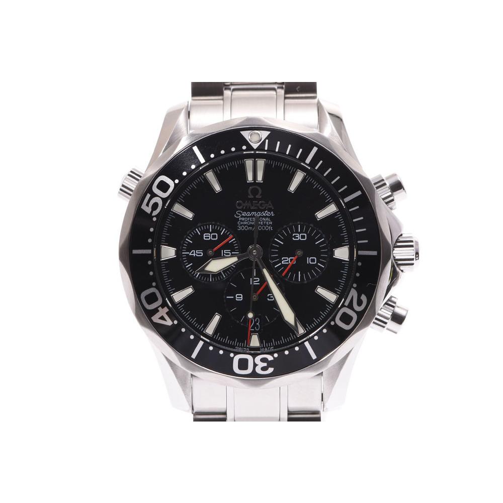 オメガ シーマスター300 クロノグラフ 黒文字盤 2594.52 メンズ SS 自動巻 腕時計 OMEGA 中古 銀蔵