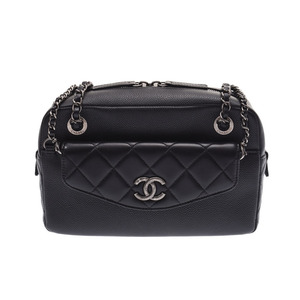 Chanel Matrasse chain shoulder bag black SV metal fittings ladies lambskin / caviar skin new same beauty goods CHANEL box gallery pre-owned ginza