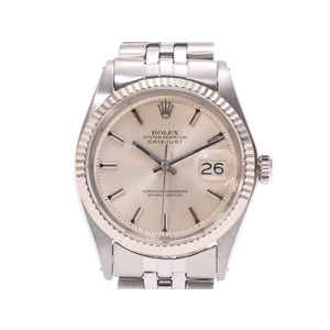 Rolex Datejust Silver Dial 1601 Mens SS Automatic Volume Wrist Watch AB Rank ROLEX Galler Chronometer Proof Used