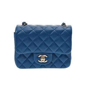 Chanel Matrasse chain shoulder bag blue SV metal fittings ladies lambskin unused beautiful goods CHANEL box galleries second hand silver storage