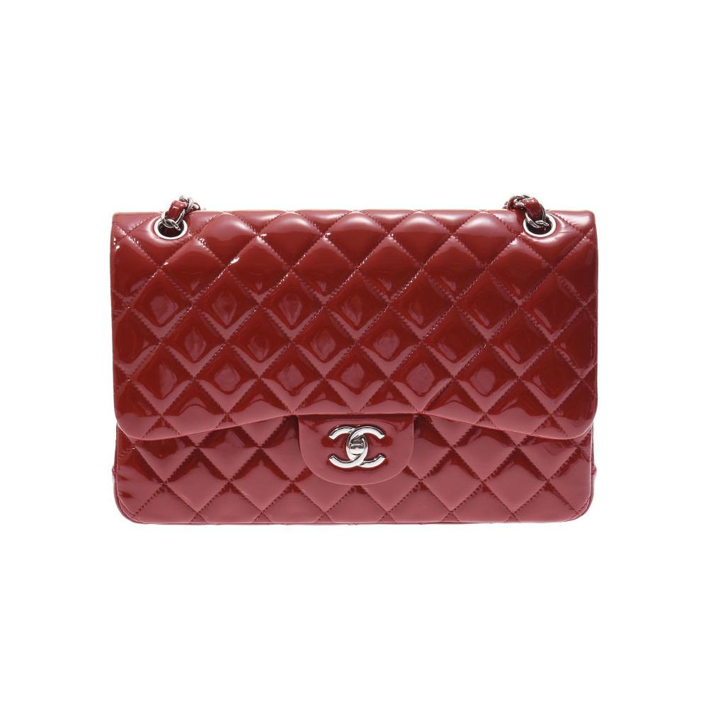 3b412801e9ea シャネル(Chanel) シャネル デカマトラッセ チェーンショルダーバッグ 赤 SV金具 レディース エナメル Aランク 美 ...