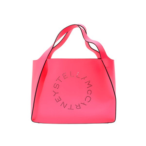 Stella McCartney Tote Bag Logo Pink Women's Synthetic Leather Not Used STELLA McCARTNEY Porcelain with Pouch