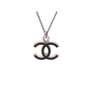 シャネル(Chanel) シャネル ネックレス ココマーク 黒 06年モデル レディース SV金具 CHANEL 中古 銀蔵