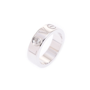 Cartier Love Ring Christmas limited # 48 Women's WG 1 P diamond 8.7 g A rank 美 品 CARTIER Used silver store