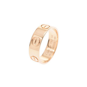 Cartier Love ring YG # 56 Ladies' men's 5.6 g Ring A rank 美 品 CARTIER Used silver store