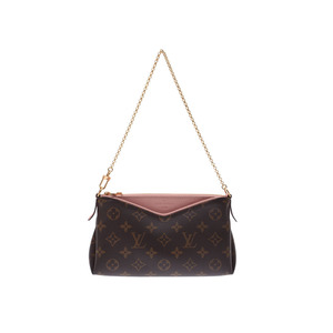Louis Vuitton Monogram Palace Clutch Rose Poodle M44037 Ladies' Genuine Leather Shoulder Bag A Rank beautiful item LOUIS VUITTON Used Ginza