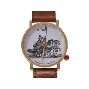 アランシルベスタイン フランス革命 白文字盤 200周年記念 メンズ レディース SS/革 クオーツ 腕時計 ABランク ALAIN SILBERSTEIN 中古 銀蔵