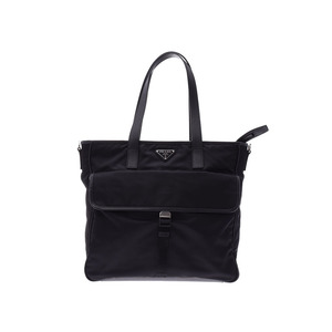 Prada Tote Bag Black 2 VG 035 Current model Men's Women's Nylon A rank 美 品 PRADA Galla Used Ginza