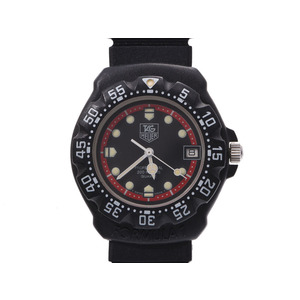 TAG Heuer Formula 1 black character board 383.513 Men's Women's SS / Rubber Quartz Wrist Watch A Rank Used Ginza