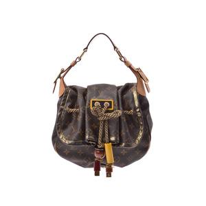 Louis Vuitton Monogram Kalahari PM M97016 Ladies' real leather handbag AB rank LOUIS VUITTON second hand silver storage
