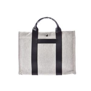 HERMES Saccane MM Towaru Ash White / Black Men's Women's Towel Bag Unused 美 品 Used Ginza