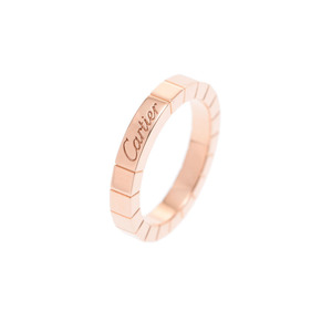 Cartier Lanieres Ring # 49 Ladies PG 5.4 g A rank 美 品 CARTIER Used silver storage
