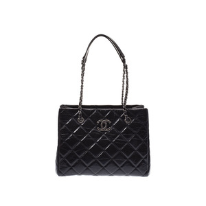 Chanel Matrasse chain tote bag black SV metal fittings vintage calf new same beauty goods CHANEL secondhand silver store
