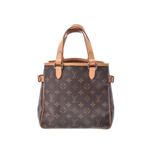 Louis Vuitton Monogram Batignolle Brown M51156 Ladies' real leather handbag B rank LOUIS VUITTON second hand silver storage
