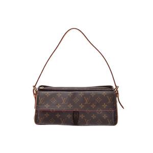 Louis Vuitton Monogram Vivasite MM Brown M 51164 Ladies' real leather bag A rank beautiful goods LOUIS VUITTON secondhand silver