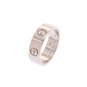 Cartier Loveling # 49 Ladies WG 5.7 g Ring A rank 美 品 CARTIER Used silver storage