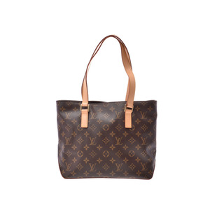 Louis Vuitton Monogram Kabanpiano Brown M51148 Ladies USA made real leather tote bag A rank 美 品 LOUIS VUITTON second hand silver storage