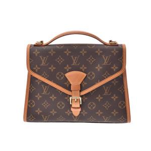 Louis Vuitton Monogram Bel Air Brown M51122 Men's Women's Genuine Leather 2WAY Bag AB Rank LOUIS VUITTON Used ginza with strap