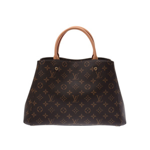 Louis Vuitton Monogram Montaigne MM Brown M41056 Ladies Leather 2WAY Bag A Rank Mint LOUIS VUITTON Used Ginza