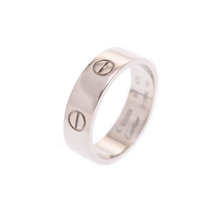 Cartier love ring WG # 60 Men's ladies 9.3 g Ring A rank 美 品 CARTIER ギ ャ ラ Used silver store