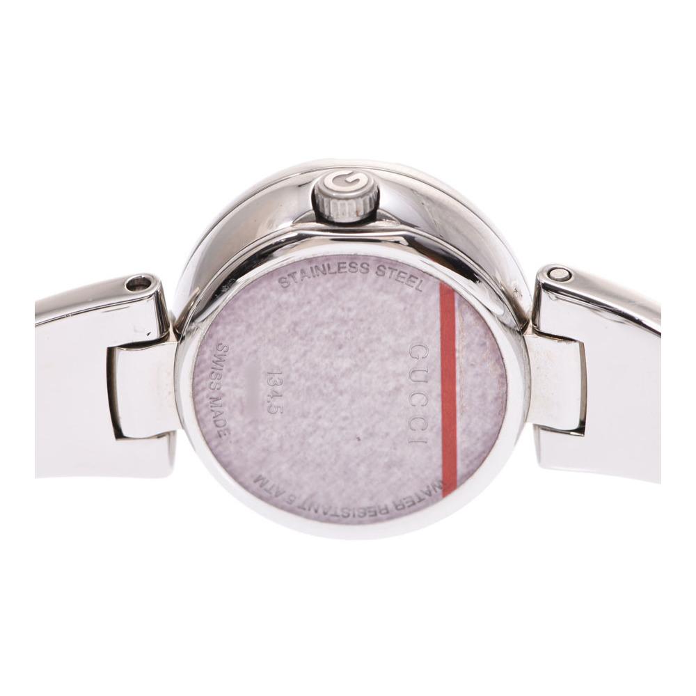7ee8384e299 Gucci 134.5 shell dial 3P diamonds women s SS quartz wristwatch ...