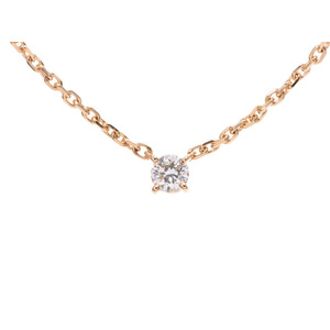 Cartier love support necklace Ladies' diamond YG 4.5g A rank 美 品 CARTIER second hand silver storage