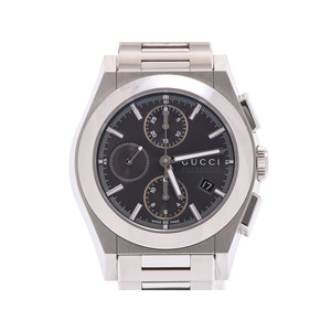 Gucci Pantheon Gray dial board Men's SS automatic winding wristwatch A rank beautiful goods GUCCI box gala second hand silver storage