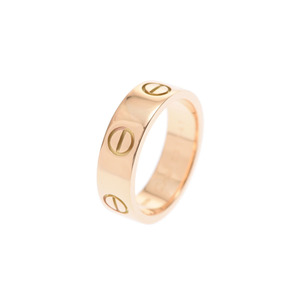 Cartier love ring # 51 ladies YG 6.4 g A rank 美 品 CARTIER used silver storage