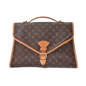 Louis Vuitton Monogram Beverly Brown M51121 Men's Women's Genuine Leather 2 Way Bag B rank LOUIS VUITTON Used ginza with strap