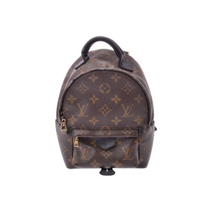 Louis Vuitton Monogram Palm Spring Mini Brown M41562 Ladies Leather Bag C Rank LOUIS VUITTON Used Ginza