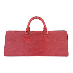 Real LOUIS VUITTON Louis Vuitton Epi Triangle Handbag Red Model: M52097 Bag Leather