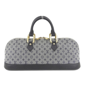 Real LOUIS VUITTON Louis Vuitton Monogram Mini Almaron Blue Part No: M92205 Bag Leather