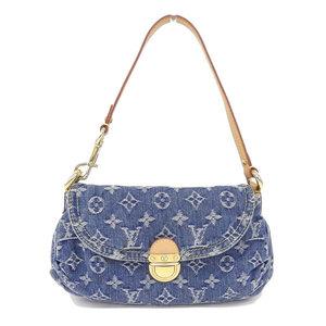 Real LOUIS VUITTON Louis Vuitton Monogram Denim Mini Pleaty Model Number: M95050 Bag Leather