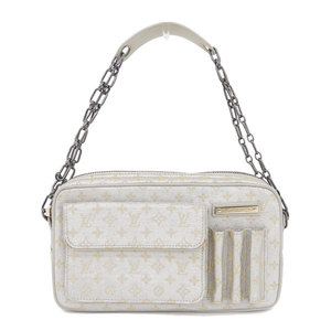 Real LOUIS VUITTON Louis Vuitton Monogram Shine McKenna Silver Part Number: M92362 Bag Leather