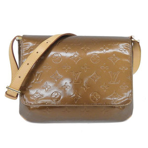 Real LOUIS VUITTON Louis Vuitton Monogram Verni Thompson Street Bronze Model: M91124 Bag Leather