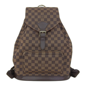 Genuine Louis Vuitton Damier Monslyi GM Backpack Pack Ebene Bag Leather