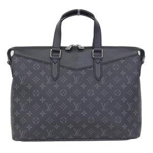 Genuine Louis Vuitton Monogram Eclipse Explorer Briefcase Bag Leather