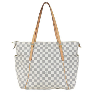 Genuine Louis Vuitton Damier Azur Totally MM Tote Bag Leather
