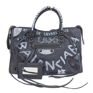 Genuine BALENCIAGA Balenciaga Graffiti Classic City 2 Way Bag Model: 4316210 F Leather