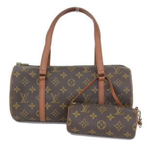 Real LOUIS VUITTON Louis Vuitton Monogram Old Papillon 30 Handbag Model: M51366 Bag Leather
