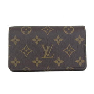 Genuine Louis Vuitton Monogram Porto Foye Tresor L letter zipper fold wallet purse leather