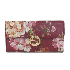 Genuine GUCCI Gucci leather fold wallet red type series pattern number: 369663