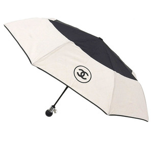 Genuine CHANEL Chanel Coco Mark Matrassez Folding umbrella