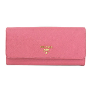 Authentic PRADA Prada Saferian Long Purse Pink Wallet Leather