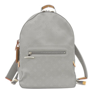 Real LOUIS VUITTON Louis Vuitton Monogram Titanium Backpack Model: M43882 Bag Leather