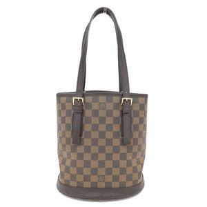 Genuine LOUIS VUITTON Louis Vuitton Damier Male Shoulder Tote Bag Leather