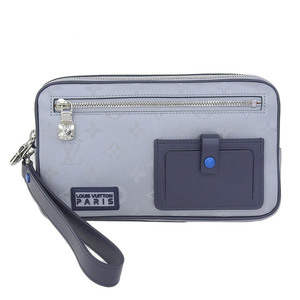 Real Louis Vuitton Monogram Satellite Alpha / Clutch Bag Model: M44171 Leather