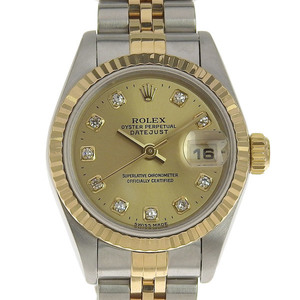 Real ROLEX Rolex Datejust Ladies Audemars Watches Model Number: 69173G W series