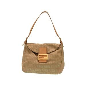 Fendi Zucca Pattern Mumma Bucket 8BR004 Shoulder Bag Beige 0256 FENDI