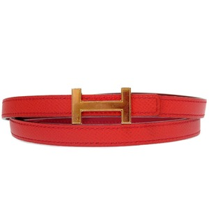 Hermes H buckle belt T engraved 2015 0191 HERMES ladies'